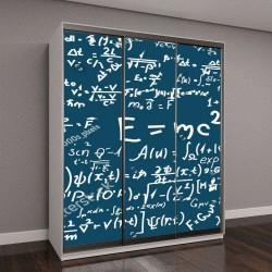 """Шкаф купе с фотопечатью """"Доска с формулами и расчетами по физике и математике"""""""