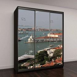 """Шкаф купе с фотопечатью """"Панорамный вид на крыши и каналы Венеции, Италия"""""""