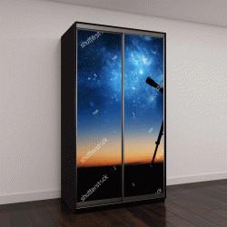 """Шкаф купе с фотопечатью """"Силуэт телескопа"""""""