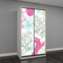 """Шкаф купе с фотопечатью """"морские растения, кораллы и водоросли"""""""