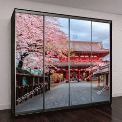 """Шкаф купе с фотопечатью """"старейший храм в Токио"""""""