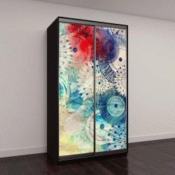 """Шкаф купе с фотопечатью """"абстрактный дизайн с графическими элементами """""""