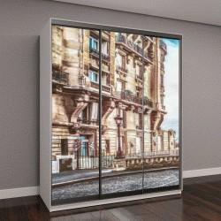 """Шкаф купе с фотопечатью """"маленькая Парижская улочка с видом на Эйфелеву башню """""""
