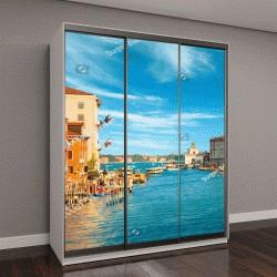 """Шкаф купе с фотопечатью """"Великолепный вид на Гранд-канал во время заката с облаками, Венеция, Италия"""""""