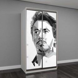 """Шкаф купе с фотопечатью """"портрет Роберта Джона Дауни-младшего"""""""