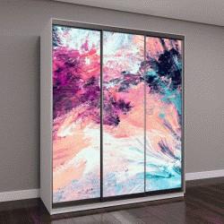 """Шкаф купе с фотопечатью """"Холодный многоцветный красивые футуристические картины"""""""