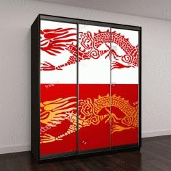 """Шкаф купе с фотопечатью """"Традиционный Китайский Дракон"""""""