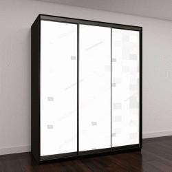 """Шкаф купе с фотопечатью """"Абстрактный серый и белый фон с сеткой квадратов"""""""