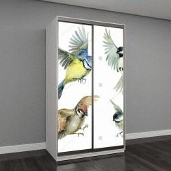 """Шкаф купе с фотопечатью """"Летающих птиц набор"""""""