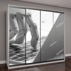 """Шкаф купе с фотопечатью """"Чат-бот , искусственный интеллект, роботизированная концепция"""""""