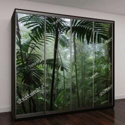 """Шкаф купе с фотопечатью """"Тропический лес пейзаж"""""""