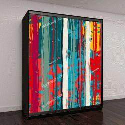 """Шкаф купе с фотопечатью """"Абстрактное искусство гранж красочные бесшовные узор, пятна краски, акварель, хаотичными мазками"""""""