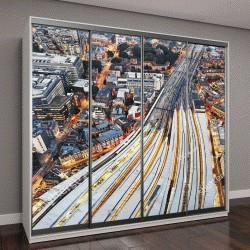 """Шкаф купе с фотопечатью """"Вид с воздуха на Лондонский мост в сумерках """""""