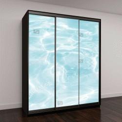 """Шкаф купе с фотопечатью """"поверхность голубой воды в бассейне"""""""