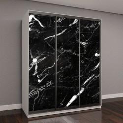 """Шкаф купе с фотопечатью """"натуральный мрамор черного и белого цвета с рисунком текстуры"""""""