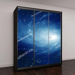"""Шкаф купе с фотопечатью """"Звезды, планеты и галактики в свободном пространстве """""""