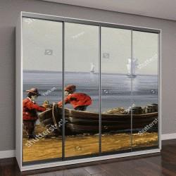 """Шкаф купе с фотопечатью """"Море, картина маслом, пейзаж"""""""
