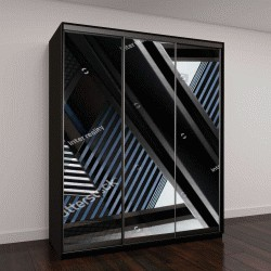 """Шкаф купе с фотопечатью """"фотография абстрактного фрагмента архитектуры"""""""