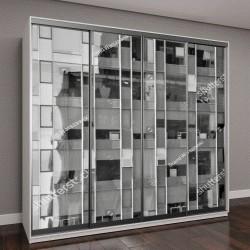 """Шкаф купе с фотопечатью """" Современное офисное здание из стали и стекла"""""""
