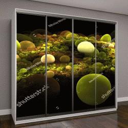 """Шкаф купе с фотопечатью """"Абстрактный 3D фон из разноцветных шаров различной формы"""""""