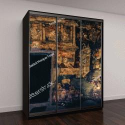 "Шкаф купе с фотопечатью ""Аджанта, картина, Аурангабад, Индия"""
