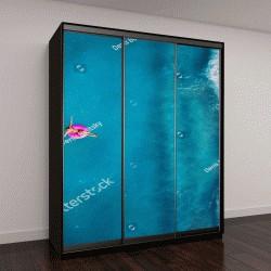 """Шкаф купе с фотопечатью """"женщина плавает на розовом круге"""""""