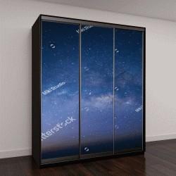 """Шкаф купе с фотопечатью """"Галактика Млечный Путь со звездами и космической пылью"""""""