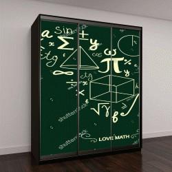 """Шкаф купе с фотопечатью """"Математические символы """""""