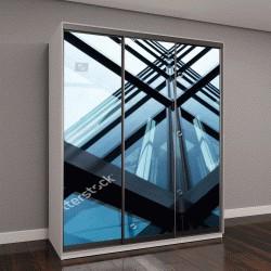 """Шкаф купе с фотопечатью """"стеклянная архитектура современного здания в Токио"""""""