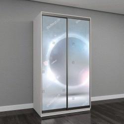 """Шкаф купе с фотопечатью """"стеклянная глянцевая поверхность"""""""