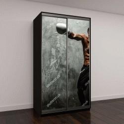 """Шкаф купе с фотопечатью """"Потрясающая женщина с большой antomy бокс"""""""