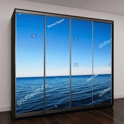 """Шкаф купе с фотопечатью """"Морской пейзаж и чистое синее небо """""""