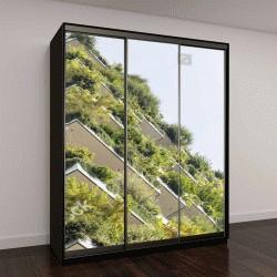 """Шкаф купе с фотопечатью """"Зеленый футуристический небоскреб, окружающей среды и концепции архитектуры """""""
