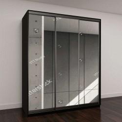 """Шкаф купе с фотопечатью """"Детали современной архитектуры, черный и белый"""""""