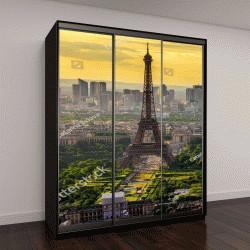 "Шкаф купе с фотопечатью ""Пейзаж Парижа с Эйфелевой башни на закате в Париже, Франция"""
