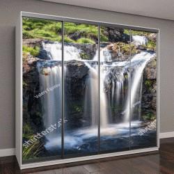 """Шкаф купе с фотопечатью """"Вид на водопады в Глен Бриттл, Остров Скай, Шотландия"""""""