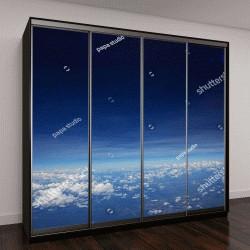 """Шкаф купе с фотопечатью """"вид между небом и космосом в темноте"""""""
