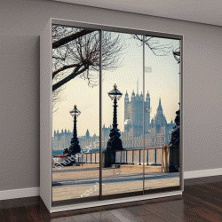 """Шкаф купе с фотопечатью """"Биг Бен и здания парламента в Лондоне, Великобритания"""""""