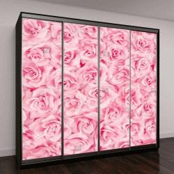 """Шкаф купе с фотопечатью """"Фоновый рисунок розовые розы"""""""