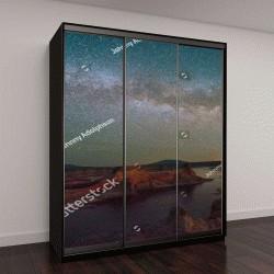 """Шкаф купе с фотопечатью """"Млечный Путь над озером Пауэлл, штат Юта, США"""""""