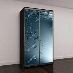 """Шкаф купе с фотопечатью """"Пузыри в воде"""""""