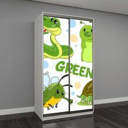 """Шкаф купе с фотопечатью """"дикие животные, насекомые и рептилии для детей """""""