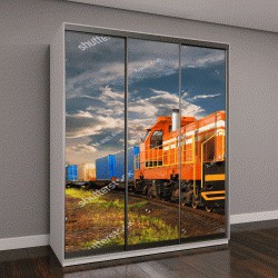 """Шкаф купе с фотопечатью """"грузовой поезд"""""""