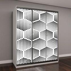 """Шкаф купе с фотопечатью """"геометрический узор из шестиугольников"""""""