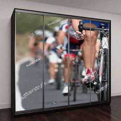 """Шкаф купе с фотопечатью """"соревнования по велоспорту """""""