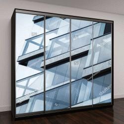 """Шкаф купе с фотопечатью """"современные стены из стекла и бетона"""""""
