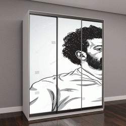 """Шкаф купе с фотопечатью """"Мо Салаха, портрет"""""""