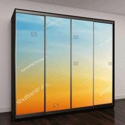 "Шкаф купе с фотопечатью ""Красивое небо во время заката """