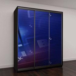 """Шкаф купе с фотопечатью """"Голубой игровой автомат, фон"""""""