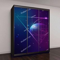 """Шкаф купе с фотопечатью """"концепция прикладной астрономии"""""""